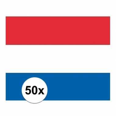 50x stickertjes van vlag van nederland