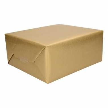 5x kadopapier goud 500 x 50 cm