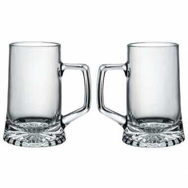 6x bierglazen/bierpullen 40 cl