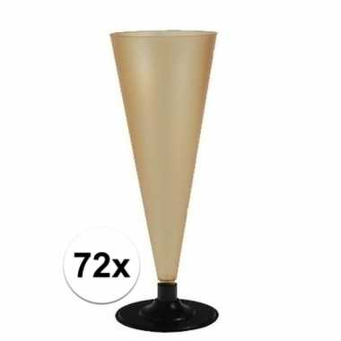 72 x champagne/prosecco glazen goud