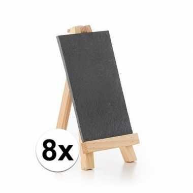 8x memo bordjes op ezel standaard 20 cm
