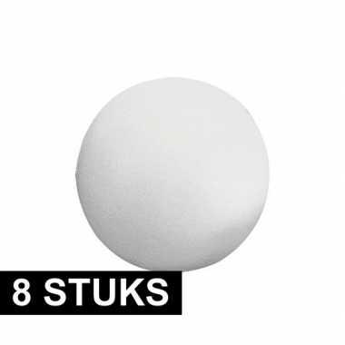8x stuks piepschuimen ballen 7 cm