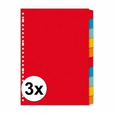 A4 kartonnen tabbladen met 30 tabs