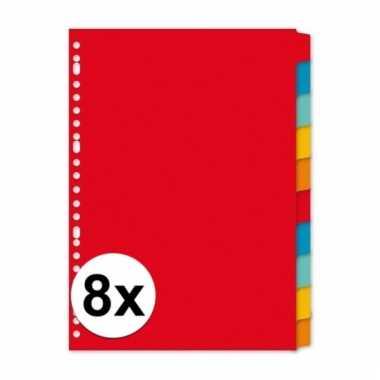 A4 kartonnen tabbladen met 80 tabs