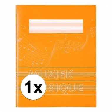 A5 schriften met muzieknoot balken oranje 1x