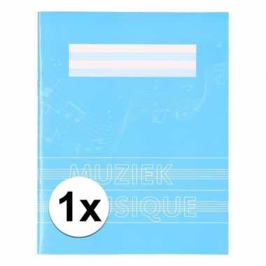 A5 schriften met muzieknoten balken blauw 1x