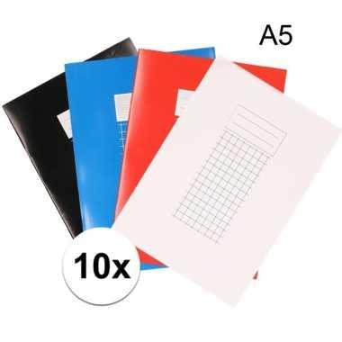 A5 vakjes schriften 10x 10 mm