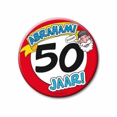 Abraham 50e verjaardag button xxl