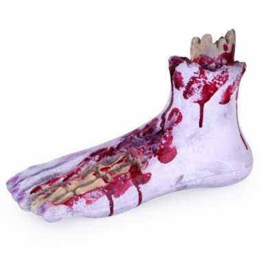 Afgehakte ledematen bloederige voet