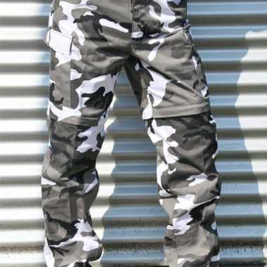 Afritsbare urban camouflage broek
