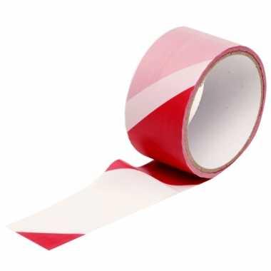 Afzet lint rood/wit 25m