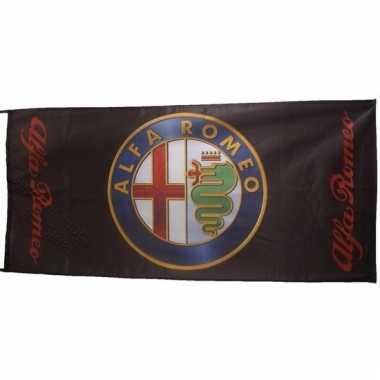 Alfa romeo vlag zwart 150 x 75 cm