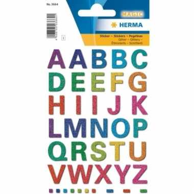 Alfabet letter stickers gekleurd