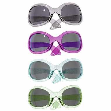 Alien glitterbril voor volwassenen