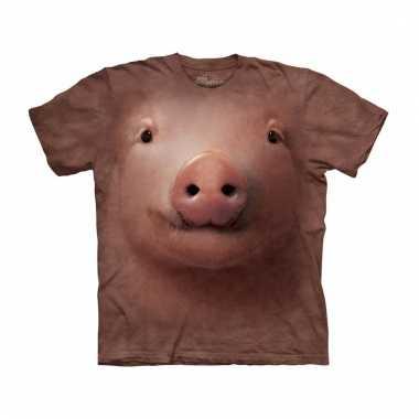 All-over print kids t-shirt met varken