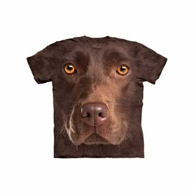All-over print t-shirt bruine labrador
