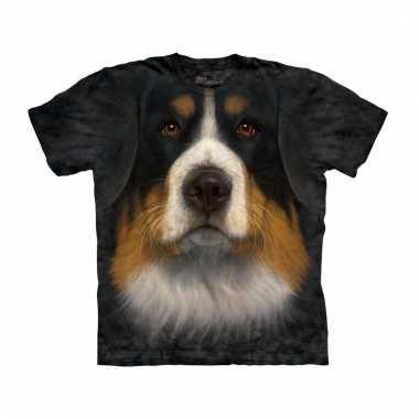 All-over print t-shirt met berner sennen hond
