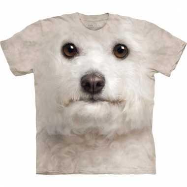 All-over print t-shirt met bichon frise