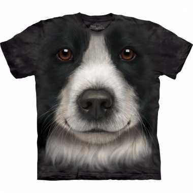 All-over print t-shirt met border collie hond