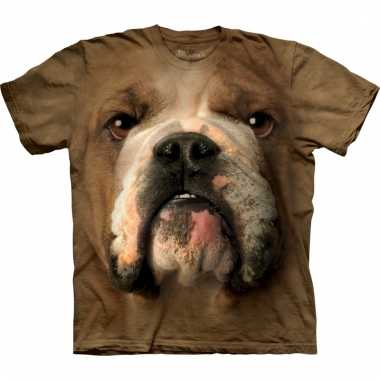 All-over print t-shirt met bulldog