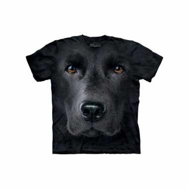 All-over print t-shirt met labrador
