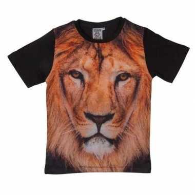 All-over print t-shirt met leeuw voor kinderen