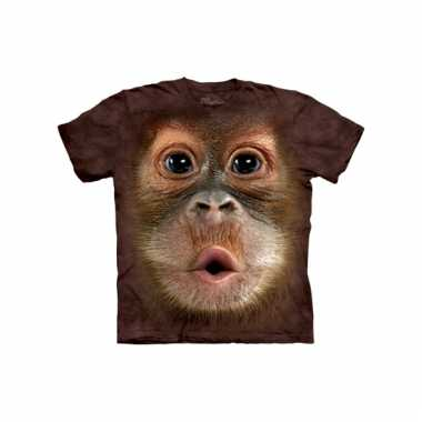 All-over print t-shirt met orang oetang