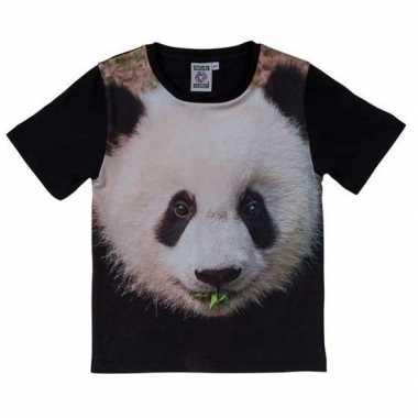 All-over print t-shirt met pandabeer voor kinderen