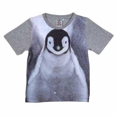 All-over print t-shirt met pingu?n voor kinderen
