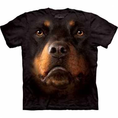 All-over print t-shirt met rotweiler
