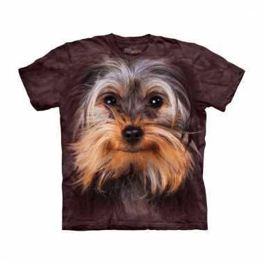 All-over print t-shirt met yorkshire terrier