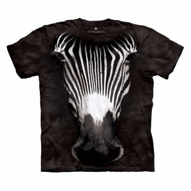 All-over print t-shirt met zebra