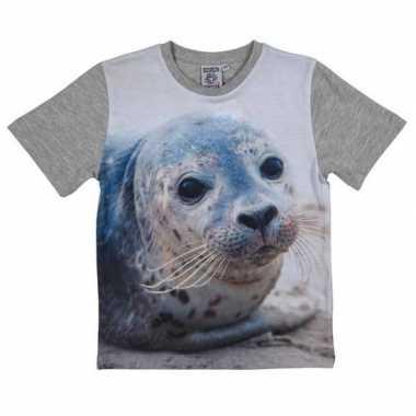 All-over print t-shirt met zeehond voor kinderen