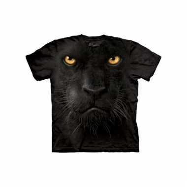 All-over print t-shirt zwarte panter