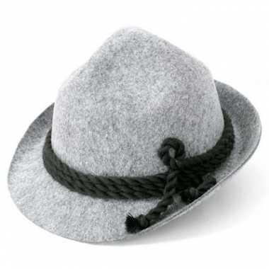Alpen hoed grijs voor volwassenen