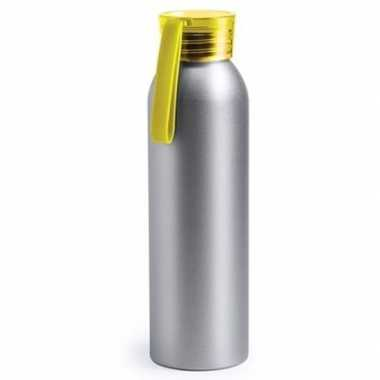 Aluminium bidon geel 650 ml