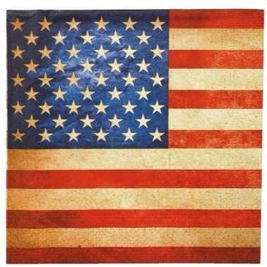 Amerika thema servetten 20 stuks