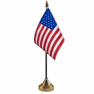 Amerika/usa versiering tafelvlag 10 x 15 cm