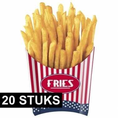 Amerikaanse friet bakjes 20x stuks