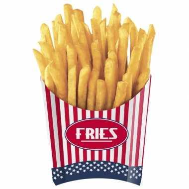 Amerikaanse friet bakjes 4 stuks