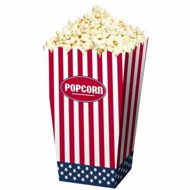 Amerikaanse popcorn bakjes 4 stuks