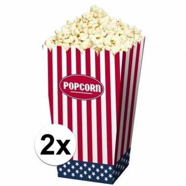 Amerikaanse popcorn bakjes 8 stuks