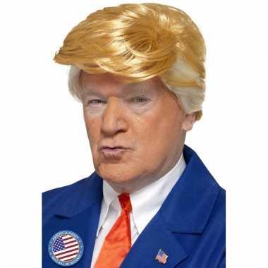 Amerikaanse president trump pruik