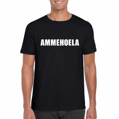 Ammehoela fun t-shirt zwart voor heren