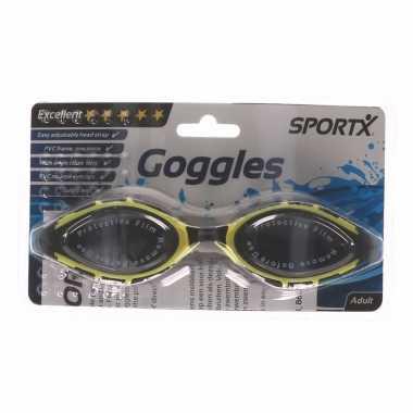 Anti-chloor duikbril zwart met geel