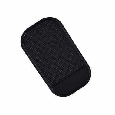Anti-slip pad / matje voor in de auto zwart 14 cm