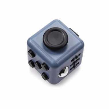 Anti stress speelgoed fidget cube grijs zwart