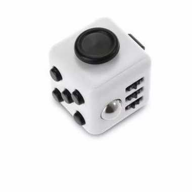 Anti stress speelgoed fidget cube wit zwart