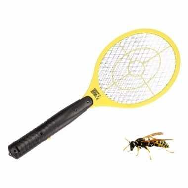 Anti wesp/vlieg elektrische vliegenmepper geel