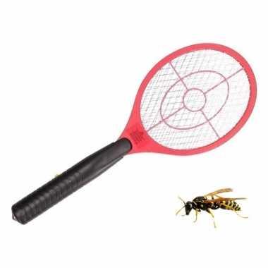 Anti wesp/vlieg elektrische vliegenmepper rood